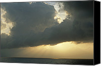 Grand Cayman Canvas Prints - Scenic With Clouds, Off Grand Cayman Canvas Print by James P. Blair