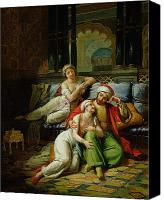 Orientalist Canvas Prints - Scheherazade Canvas Print by Paul Emile Detouche
