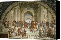 Fresco Canvas Prints - School of Athens from the Stanza della Segnatura Canvas Print by Raphael
