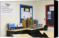 Ambition Canvas Prints - School Teachers Desk Canvas Print by Skip Nall