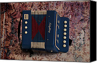 Accordion Canvas Prints - Schylling Accordion Canvas Print by Bill Cannon