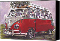 Kombi Canvas Prints - Scoobie Split Canvas Print by Sharon Poulton