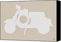 Car Drawings Canvas Prints - Scooter Brown Poster Canvas Print by Irina  March