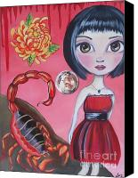 Jasmine Painting Canvas Prints - Scorpio Canvas Print by Jaz Higgins