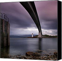 Scotland Canvas Prints - Scotland Skye Bridge Canvas Print by Nina Papiorek