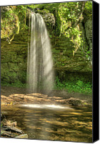 Michigan Waterfalls Canvas Prints - Scott Falls 4741 Canvas Print by Michael Peychich