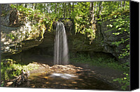 Michigan Waterfalls Canvas Prints - Scott Falls 4750 Canvas Print by Michael Peychich