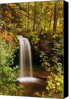 Michigan Waterfalls Canvas Prints - Scott Falls Canvas Print by Michael Peychich