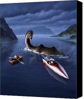 Monster Painting Canvas Prints - Scottish Cuisine Canvas Print by Jerry LoFaro