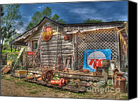 Log Cabin Photo Canvas Prints - Scrap House Canvas Print by Jimmy Ostgard