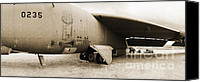 Regeneration Photo Canvas Prints - Scrapped B-52  Canvas Print by Jan Faul