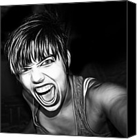 Anger Digital Art Canvas Prints - Scream 2 Canvas Print by Tilly Williams