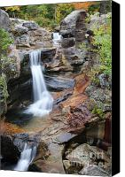 Autumn Canvas Prints - Screw Auger Falls - Maine  Canvas Print by Erin Paul Donovan
