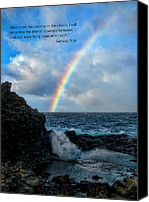 Nakalele Canvas Prints - Scripture and Picture Genesis 9 16 Canvas Print by Ken Smith