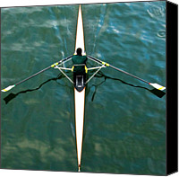 Rowing Canvas Prints - Scull Canvas Print by Gerard Hermand