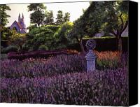 Gardens Canvas Prints - Sculpture Garden Canvas Print by David Lloyd Glover
