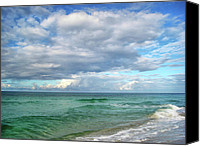 Panama City Beach Fl Canvas Prints - Sea and Sky - Florida Canvas Print by Sandy Keeton
