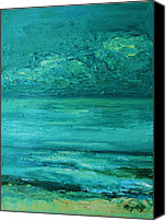 Mary Wolf Canvas Prints - Sea Blue Canvas Print by Mary Wolf
