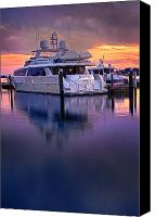 Yachts Canvas Prints - Sea Filly at Palm Beach Canvas Print by Debra and Dave Vanderlaan