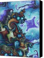 Psychedelic Canvas Prints - Sea Jewels Canvas Print by David April