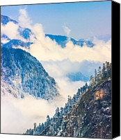 Tibetan Canvas Prints - Sea Of Clouds Canvas Print by Feng Wei Photography