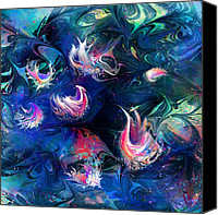 Fantasy Creatures Canvas Prints - Sea Shells Canvas Print by Rachel Christine Nowicki