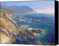 State Park Painting Canvas Prints - Seacliffs at Garapata Canvas Print by Sharon Weaver