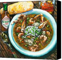 Food Painting Canvas Prints - Seafood Gumbo Canvas Print by Dianne Parks