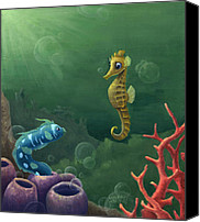 Casa Grande Canvas Prints - Seahorse Discovery Canvas Print by Michael Trujillo