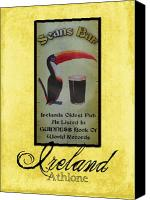 Tourist Attraction Canvas Prints - Seans Bar Guinness Pub Sign Athlone Ireland Canvas Print by Teresa Mucha