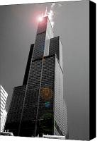 Sears Tower Canvas Prints - Sears Tower 2 Canvas Print by BuffaloWorks Photography