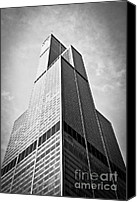 Sears Tower Canvas Prints - Sears-Willis Tower Chicago Canvas Print by Paul Velgos