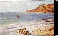 Beaches Canvas Prints - Seascape at Sainte Adresse  Canvas Print by Claude Monet