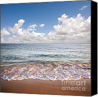 Green Photo Canvas Prints - Seascape Canvas Print by Carlos Caetano