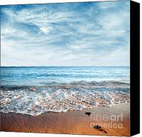 Wet Canvas Prints - Seashore Canvas Print by Carlos Caetano
