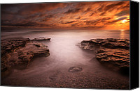 Long Canvas Prints - Seaside Reef Sunset 3 Canvas Print by Larry Marshall
