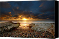 Sand Canvas Prints - Seaside Reef Sunset 9 Canvas Print by Larry Marshall