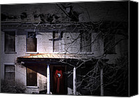 Dilapidated House Canvas Prints - Seasons Greetings from Rural America Canvas Print by Steven  Digman
