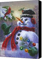 Christmas Painting Canvas Prints - Seasons Greetings Canvas Print by Richard De Wolfe