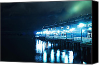Seattle Waterfront Canvas Prints - Seattle Aquarium at Night Canvas Print by Tanya Harrison