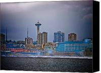 Seattle Skyline Canvas Prints - Seattle Canvas Print by Jim DeLillo