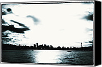 Puget Sound Canvas Prints - Seattle Skyline Canvas Print by Tanya Harrison