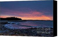Acadia Canvas Prints - Seawall Beach Acadia National Park Canvas Print by John Greim