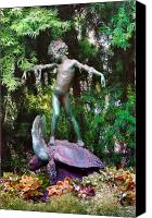 Fairmount Park Canvas Prints - Seaweed Girl Canvas Print by Bill Cannon