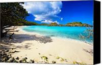 Island Photo Canvas Prints - Secluded  Beach Canvas Print by George Oze