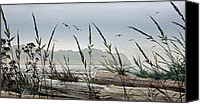 Landscape Framed Print Image Canvas Prints - Secluded Driftwood Shore Canvas Print by James Williamson