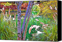 Signed Canvas Prints - Secluded Pond Canvas Print by Chuck Staley