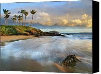 Seafoam Canvas Prints - Secret Beach 5 Canvas Print by Monica and Michael Sweet - Printscapes