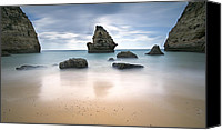 Beaches Reliefs Canvas Prints - Secret beach Canvas Print by Jorge  Fonseca