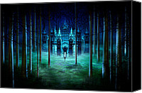 Creepy Canvas Prints - Secret Castle Canvas Print by Svetlana Sewell